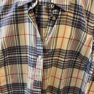 Talbots plaid XS button down shirt long sleeves